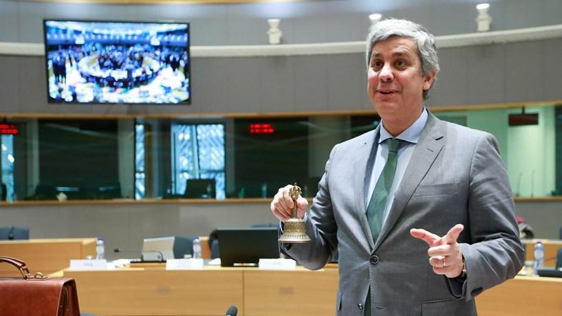 O primeiro Eurogrupo com Centeno a presidir