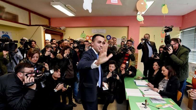 Resultado de imagem para eleicoes italia movimento 5 estrelas